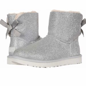 UGG Bailey Bow glitter boots 7 New